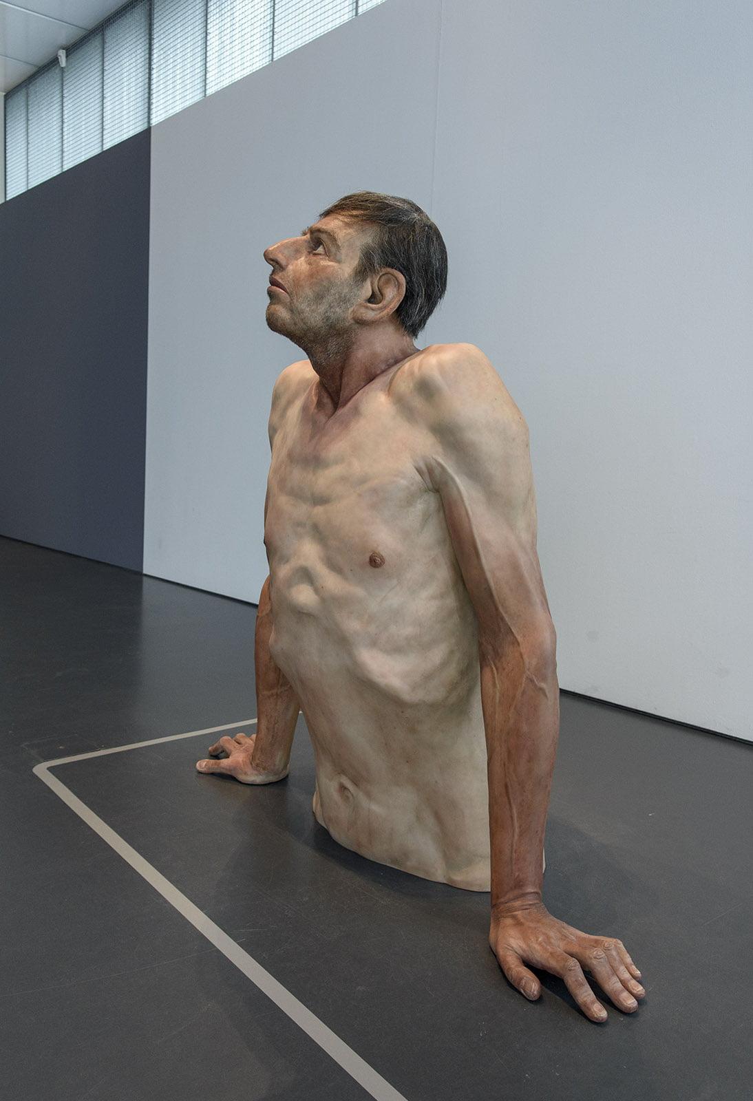 Zharko Basheski - Ordinary Man, Kunsthal, Hyperrealism Sculpture